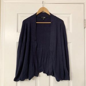 Sweaters - Oversize navy batwing knit cardigam